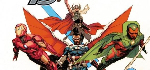 La couverture d'All-New, All-Different Avengers.