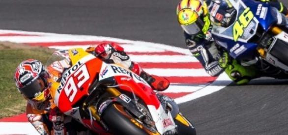 Marc Marquez y Valentino Rossi