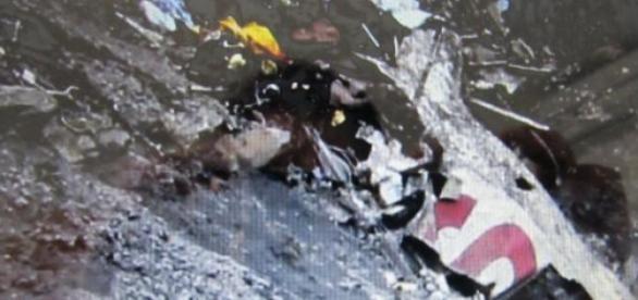 Destroços do avião nos Alpes Franceses