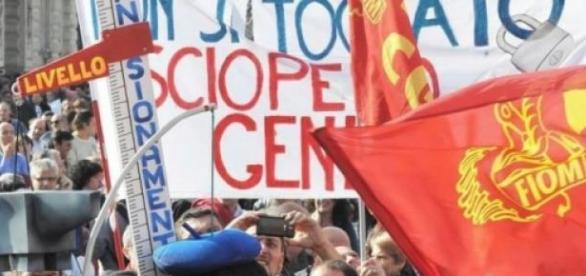 Manifestazione Roma Fiom fonte: repubblica.it