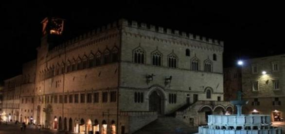 Plaza central de Perugia, junto a la catedral