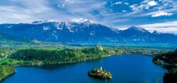 A beleza do Lago Bled, na Eslovênia
