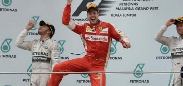 Le podium à Sepang du GP de F1