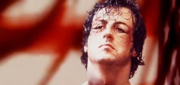 Sylvester Stallone em 'Rocky, Um Lutador'.