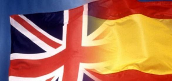 Bandera como símbolo de bilingüismo español.