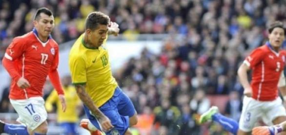 Firmino deu a vitória ao Brasil frente ao Chile
