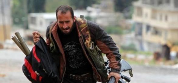 Free Syrian Army militia fighter in Idlib province
