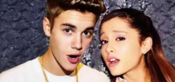 Justin Bieber e Ariana Grande juntos em Miami.