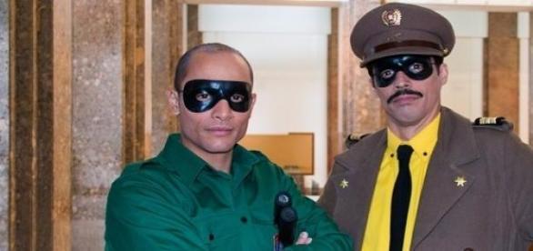 Puto Perdiz( à esq.) e Capitão Falcão (à dir.)