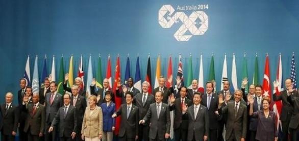 Uczestnicy szczytu G20 w Brisbane