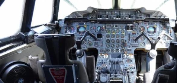 Cabine de voo utilizada por pilotos