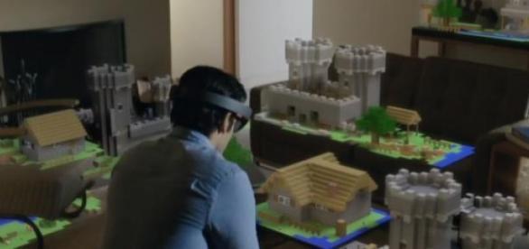 El juego Minecraft en hololens