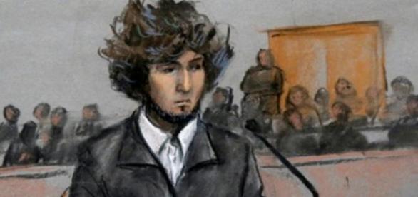 Djokhar Tsarnaev lors de son procès.