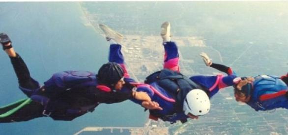 La caída libre permite a veces hacer acrobacias