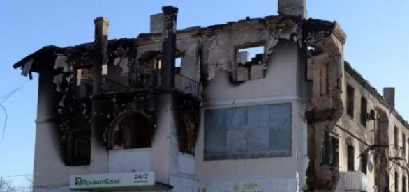 Orasul Debaltsevo, dupa lupte indelungate