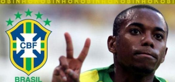 Robinho é convocado por Dunga.