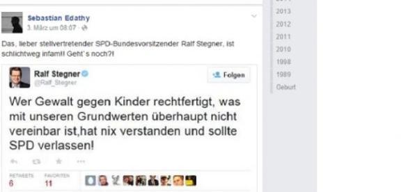 """Edathy bezeichnet Ralf Stegner als """"infam""""."""