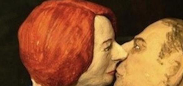 J. Gillard(1st female Australian PM) & T. Abbott