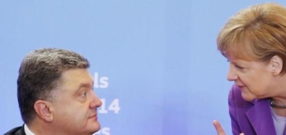 Petro Poroshenko si Angela Merkel
