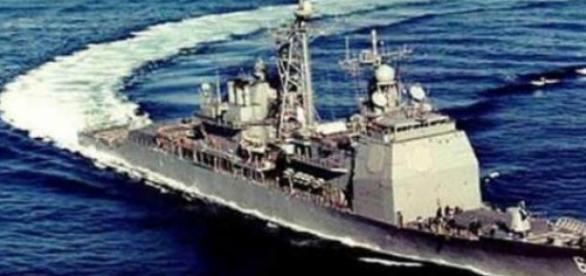 USS Vicksburg intrand in Marea Neagra