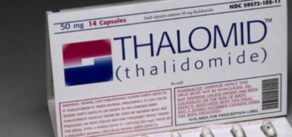 Talidomida, responsável por malformação congênita