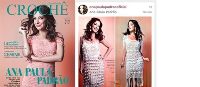 Capa Revista Círculo Moda Crochê com Ana Paula Padrão