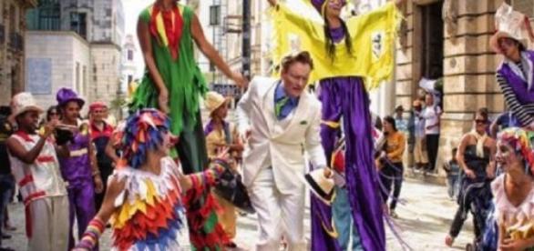 Conan O'Brien en Cuba en su Last night desde Cuba