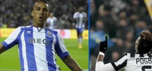 Danilo, fúturo jugador del Real Madrid y Pogba