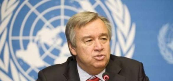 António Guterres numa conferência da ONU em Génova