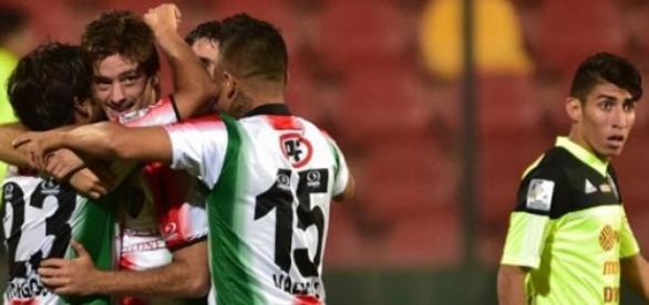 Comemoração de mais um gol do Palestino