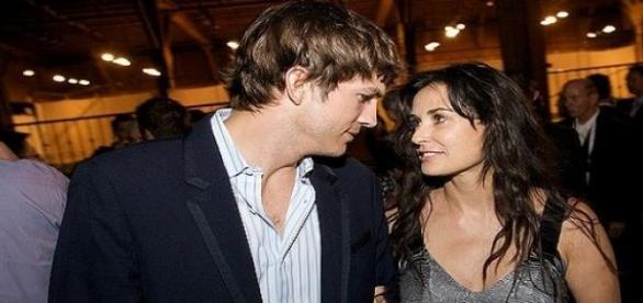 Ashton Kutcher und Demi Moore.