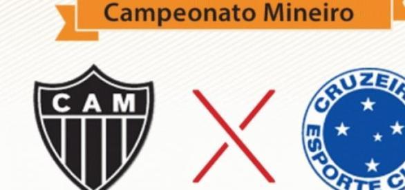 Atlético e Cruzeiro clássico no Mineirão.