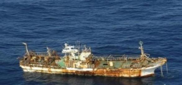 barco aparece en las costas norteamericanas