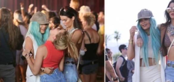Kylie e Kendall Jenner com Hailey Baldwin