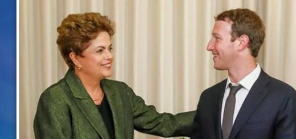 Presidente do Brasil com o fundador do Facebook