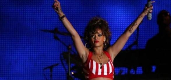 Riahnna no Rock in Rio em 2013.