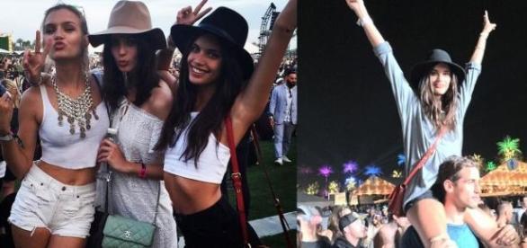 Sara Sampaio muito divertida no Coachella