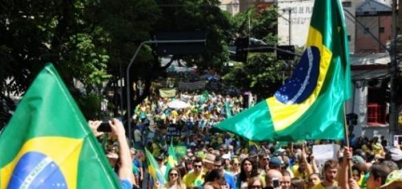 Manifestação no último domingo, dia 12 de abril.