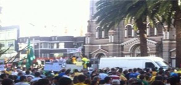 Novo protesto contra o governo de Dilma