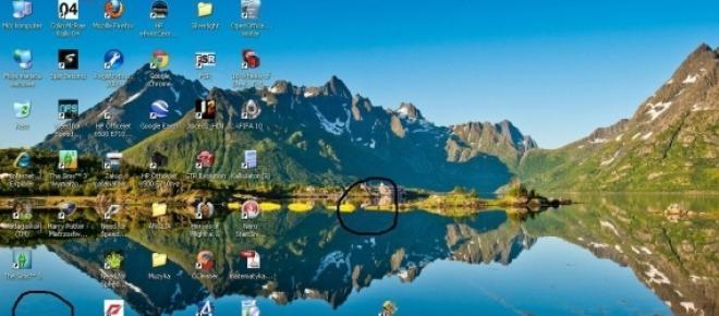 ikony na ekranie komputera