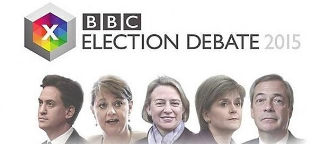 Five leaders taking part in BBC debate