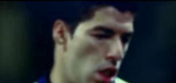 Luis Suárez en un partido del Barcelona