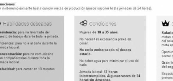 Oferta laboral publicada  Oxfam Intermón