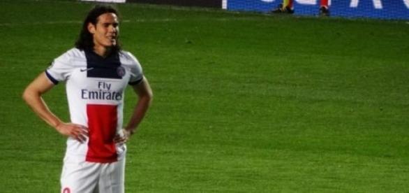 Cavani, attaquant du Paris-Saint-Germains