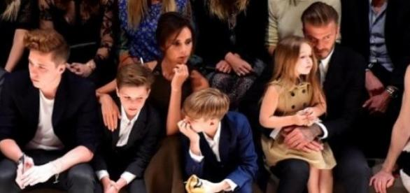 Família Beckham com Anna Wintour, em Los Angeles