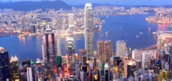 Hong Kong en imagen de archivo