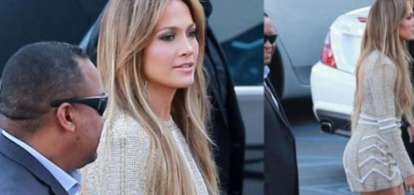 Jennifer Lopez encantadora na chegada ao 'Ídolos'