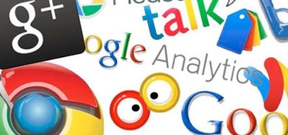 Logos de varios servicios ofrecidos por Google.
