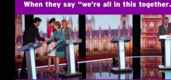 NIgel Farage's tweet following the debate