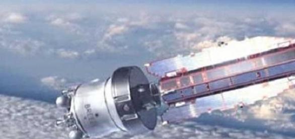 El satélite GOCE sobrevolando la Tierra